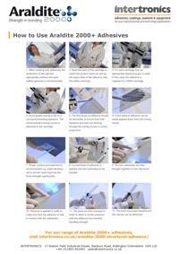 How to use Araldite 2000+ adhesives