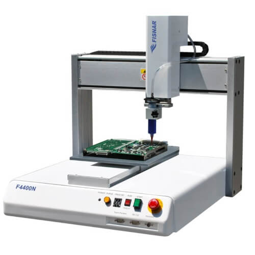 typical benchtop dispensing robot