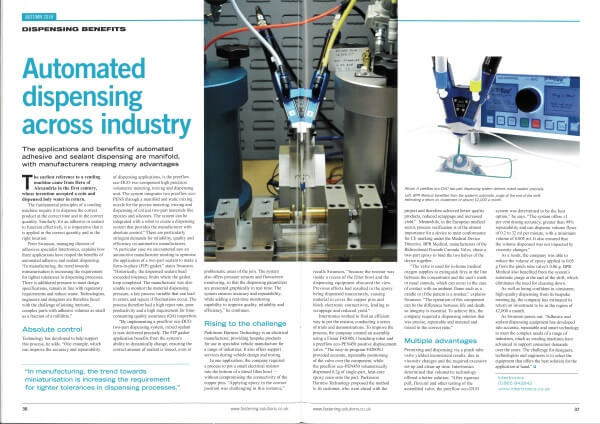 FAST - Automating Dispensing Across Industry - article